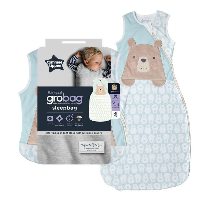 Bennie the Bear Grobag with packaging