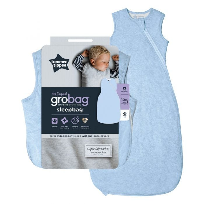 The Original Grobag Blue Marl Sleepbag with packaging
