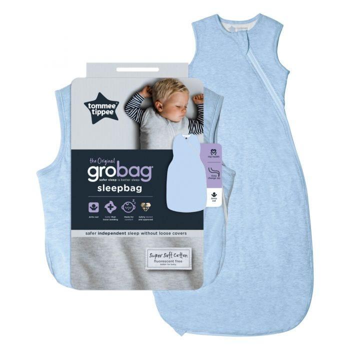 Blue Marl Grobag Sleepbag and packaging