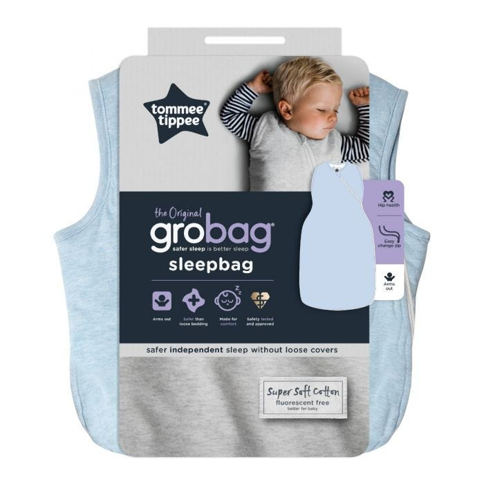 The Original Grobag Blue Marl Sleepbag packaging