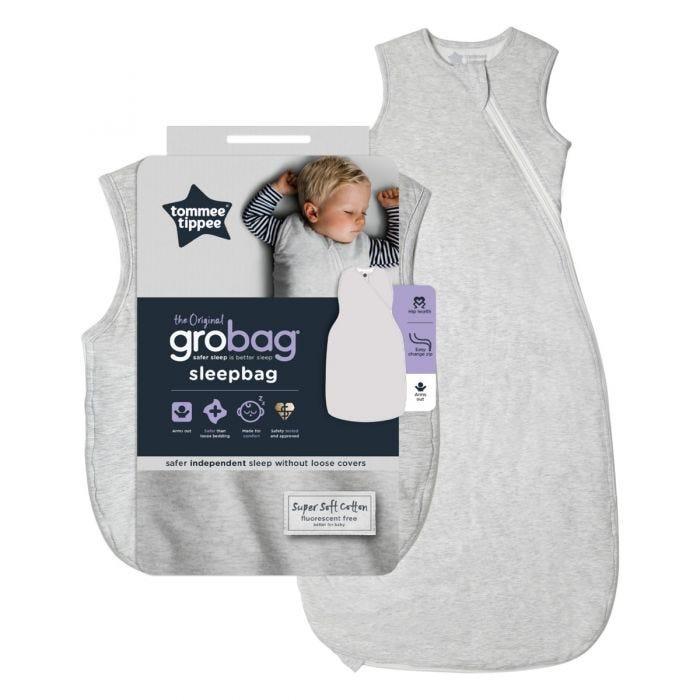 The Original Grobag Grey Marl Sleepbag with packaging