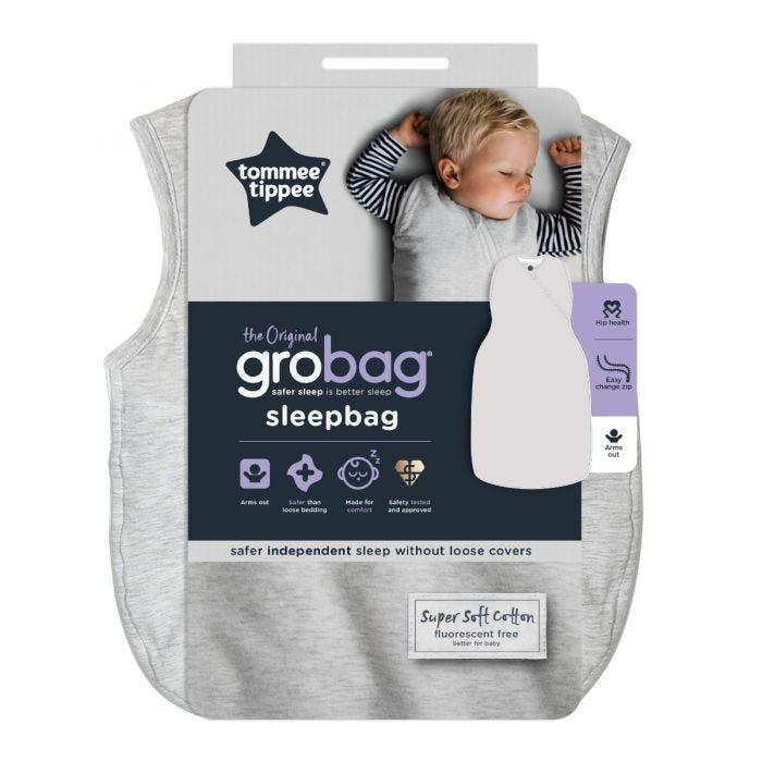The Original Grobag Grey Marl Sleepbag packaging