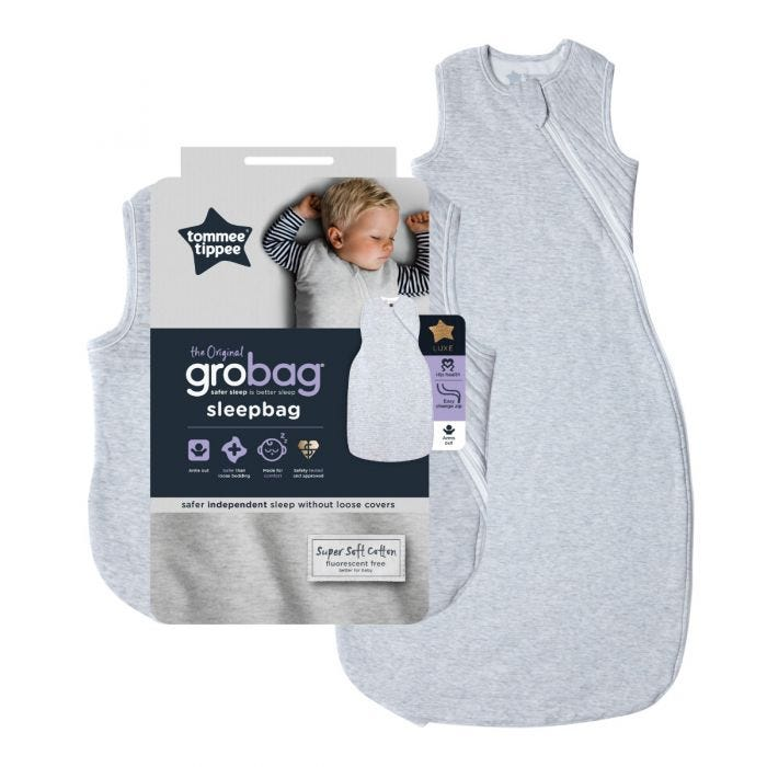 The Original Grobag Classic Marl Sleepbag and packaging