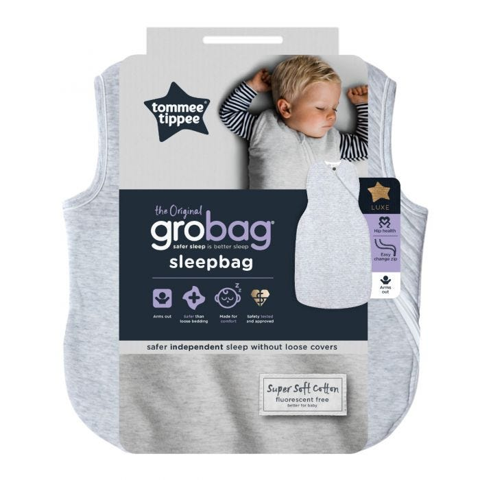 The Original Grobag Classic Marl Sleepbag packaging