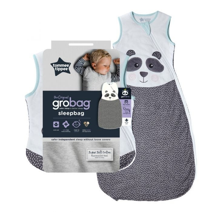 The Original Grobag Pip the Panda Sleepbag with packaging
