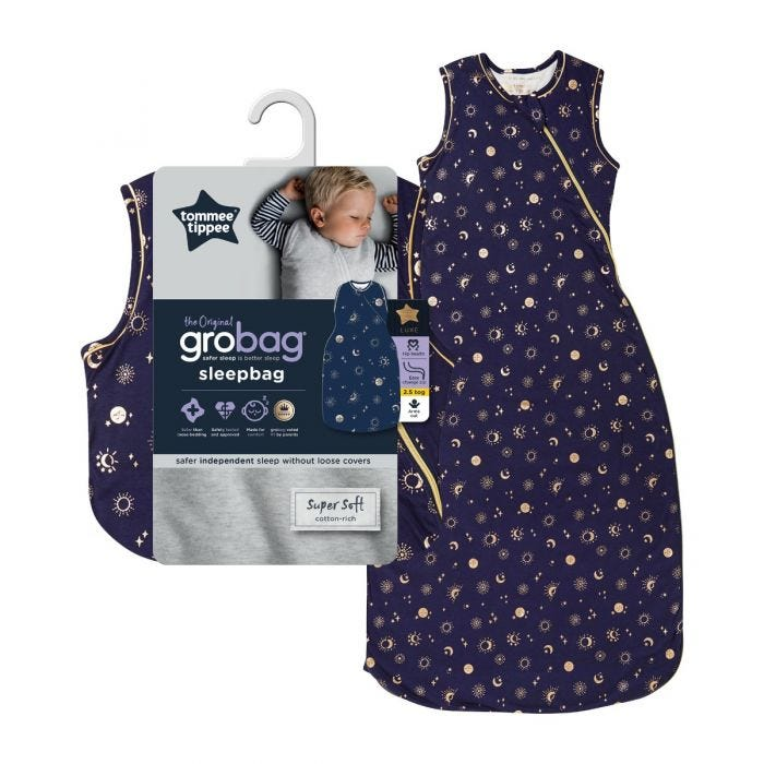 The Original Grobag Moon Child Sleepbag with packaging