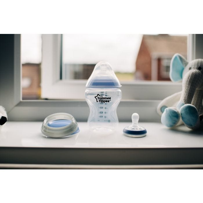 Closer to Nature Glow Bottle and Breast Like Soother Night Time on windowsill