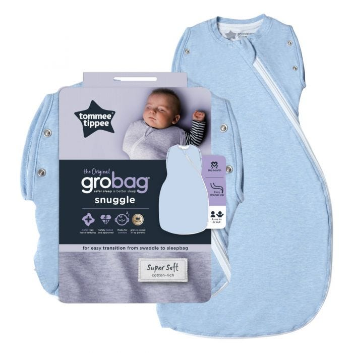The Original Grobag Blue Marl Snuggle with packaging