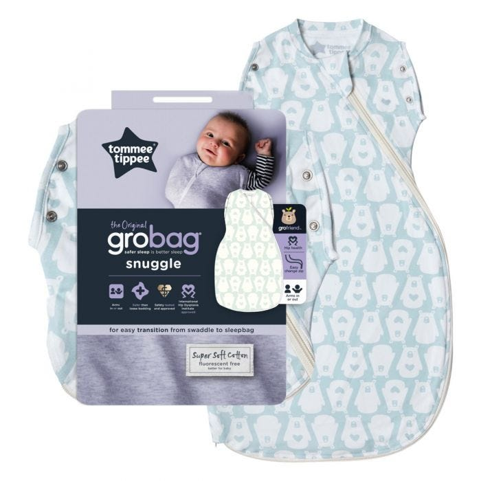 Bennie the Bear Grobag Snuggle and packaging
