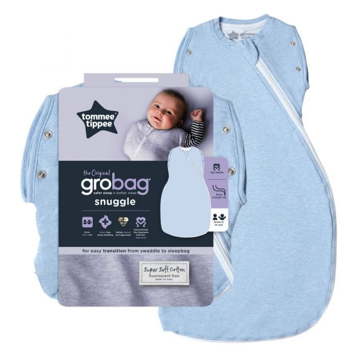 Blue Marl Grobag Snuggle and packaging