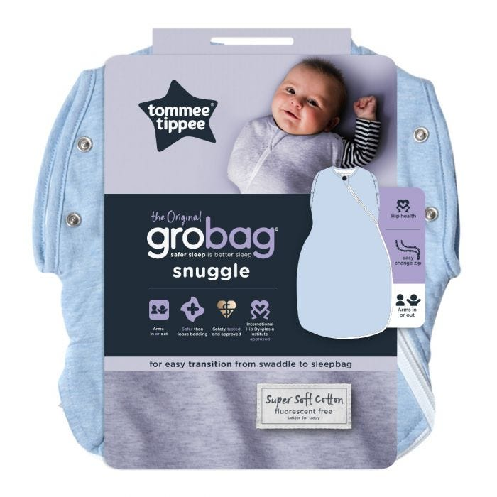 Blue Marl Grobag Snuggle packaging