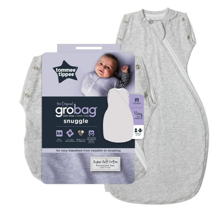 Grey Marl Grobag Snuggle with packaging