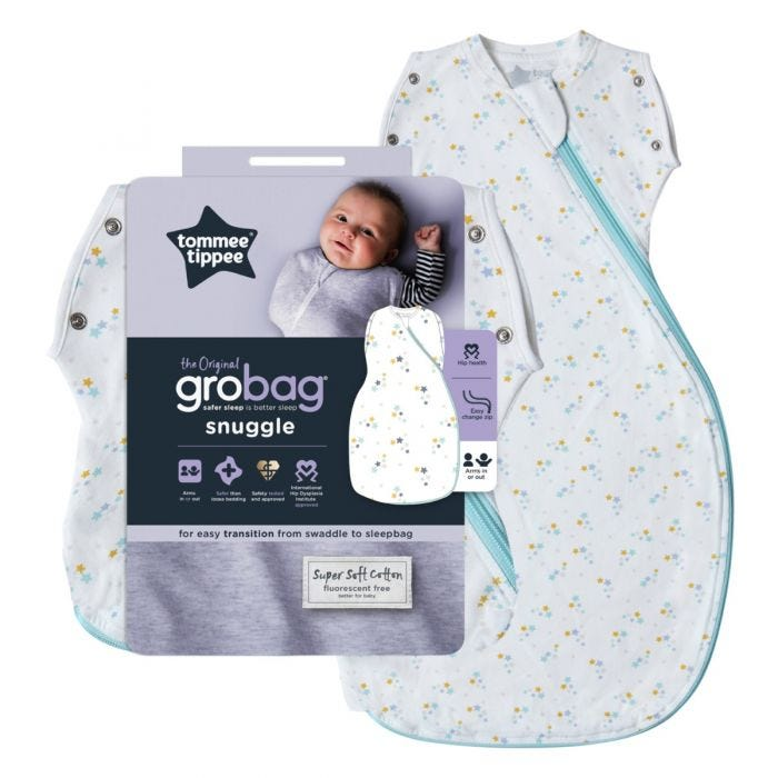 Original Grobag Baby Stars Snuggle and packaging