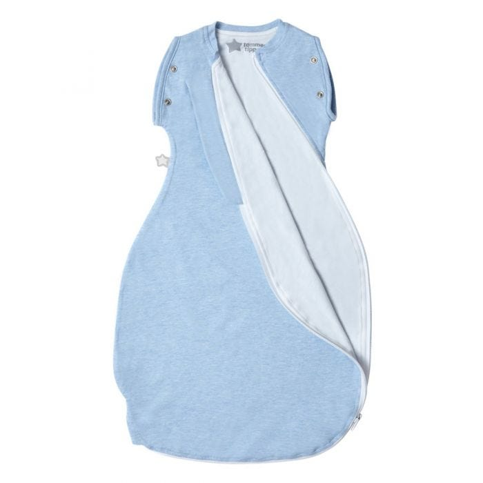 Blue Marl Grobag Snuggle zip open