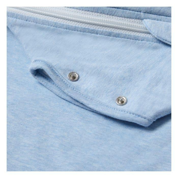 The Original Grobag Blue Marl Snuggle close up of poppers