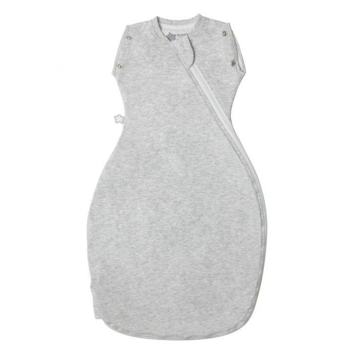 Grey Marl Grobag Snuggle zip closed