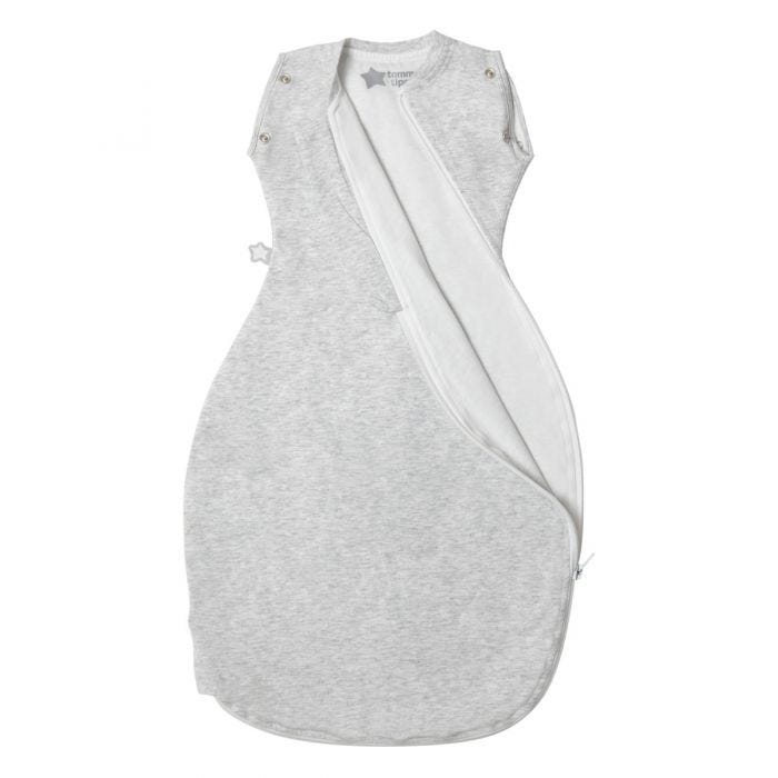 Grey Marl Grobag Snuggle zip open