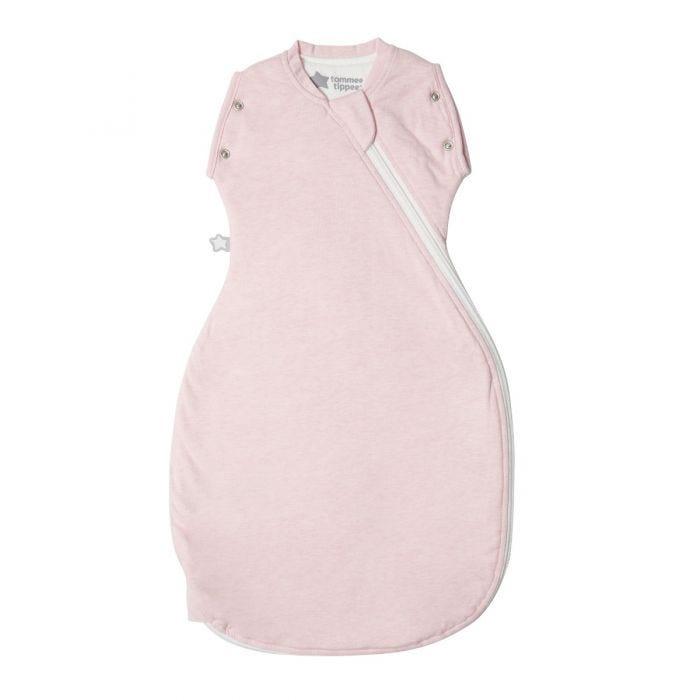 Pink Marl Grobag Snuggle zip closed
