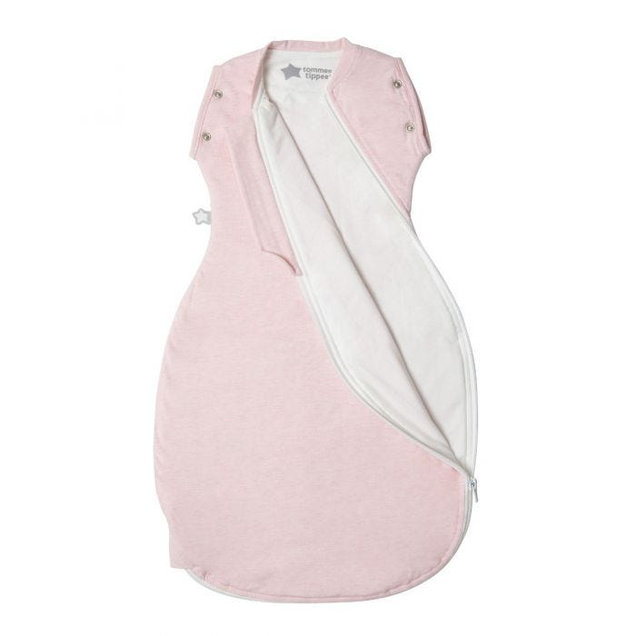 Pink Marl Grobag Snuggle zip open