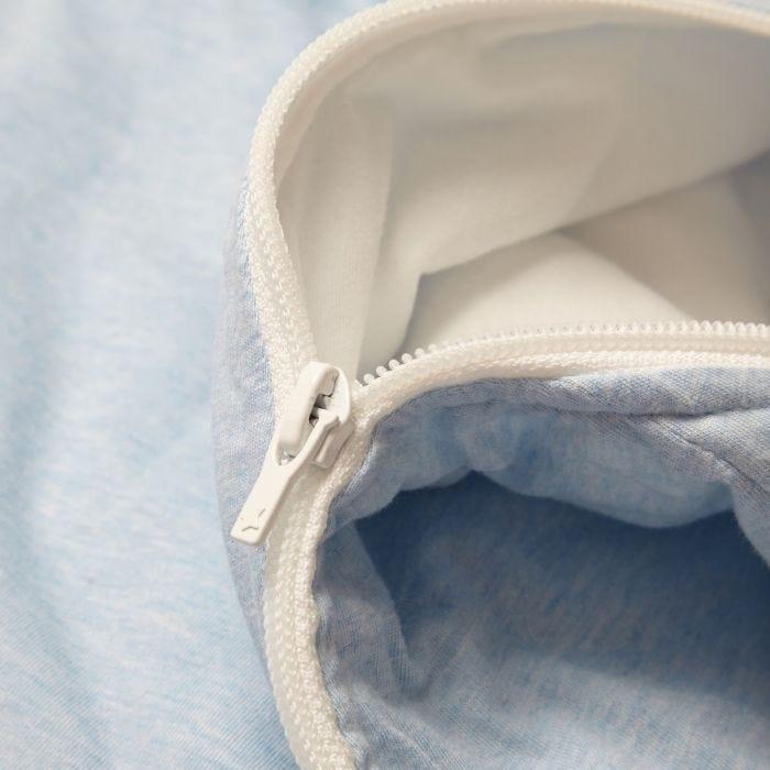 The Original Grobag Blue Marl Steppee zip close up