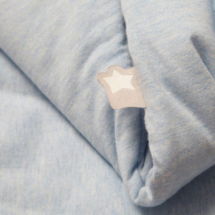 The Original Grobag Blue Marl Steppee close of TT logo