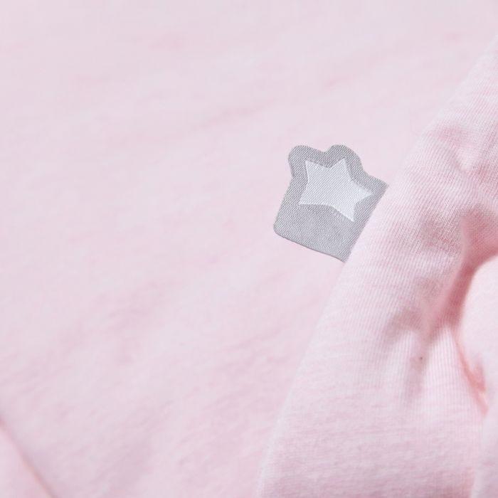 The Original Grobag Pink Marl Steppee fabric close up