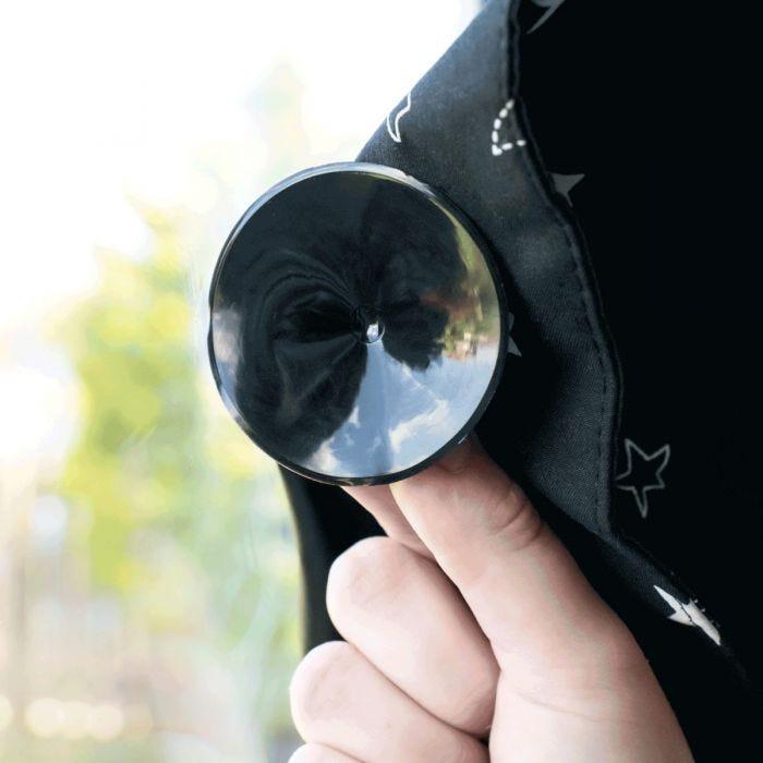 Portable Blackout Blind - window suckers