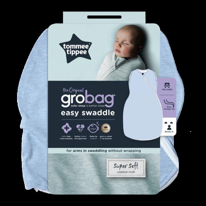 The Original Grobag Blue Marl Easy Swaddle packaging
