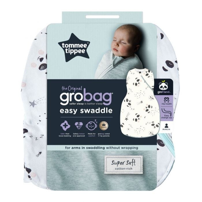 The Original Grobag Little Pip Easy Swaddle with packaging