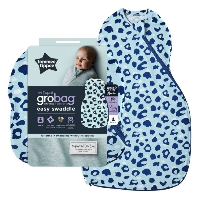 Abstract Animals Easy Swaddle and packaging