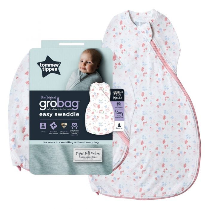 Pretty Petals Easy Swaddle and packaging