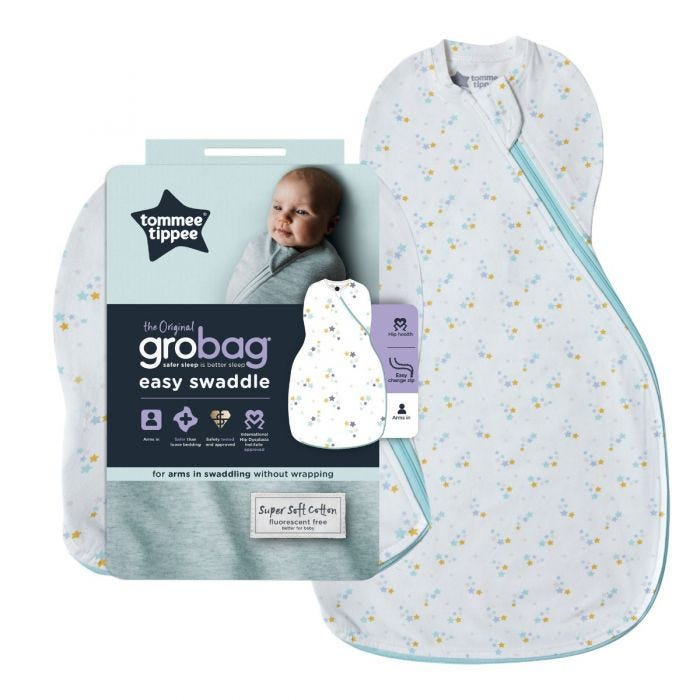 The Original Grobag Baby Stars Easy Swaddle and packaging