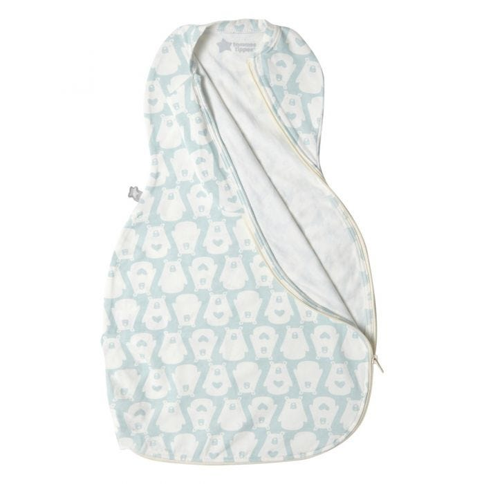 The Original Grobag Bennie the Bear Easy Swaddle zip open