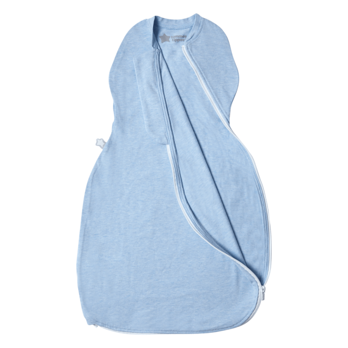The Original Grobag Blue Marl Easy Swaddle zip open