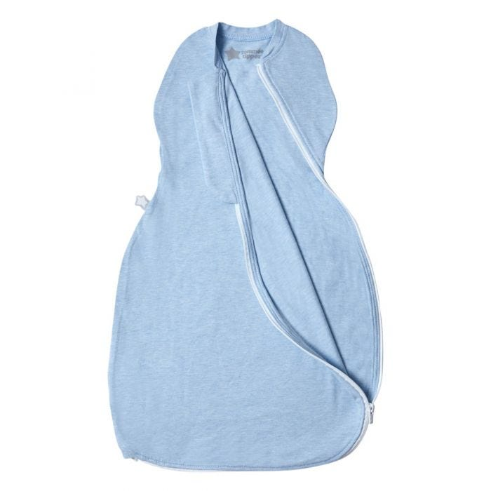 Blue Marl Easy Swaddle zip open