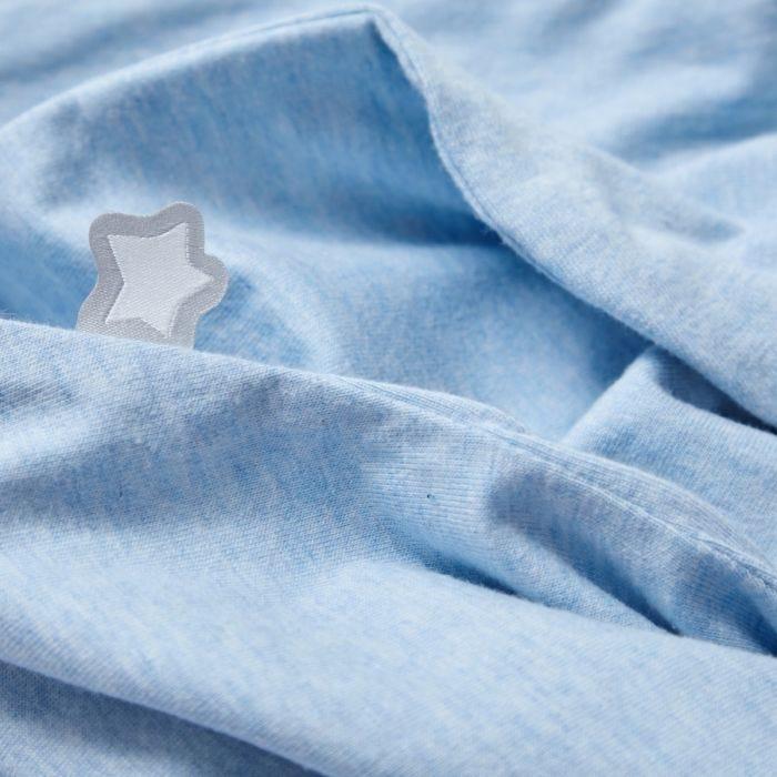 The Original Grobag Blue Marl Easy Swaddle fabric close up