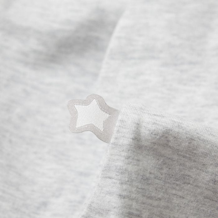 grey marl easy swaddle fabric close up