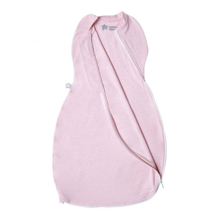 Pink Marl Easy Swaddle  zip open