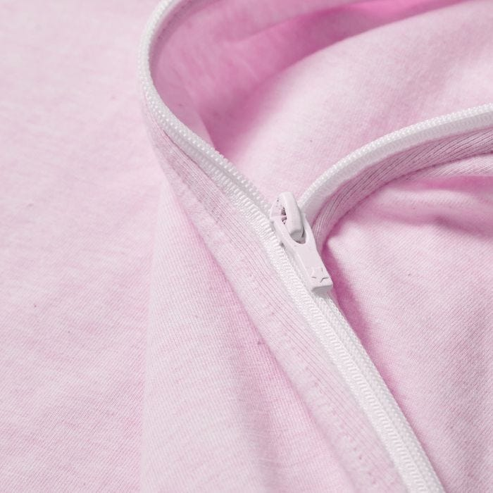 Sleepee Snuggee, Pink Marl zip close up