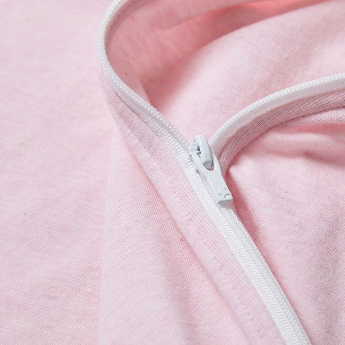 pink marl easy swaddle zip close up