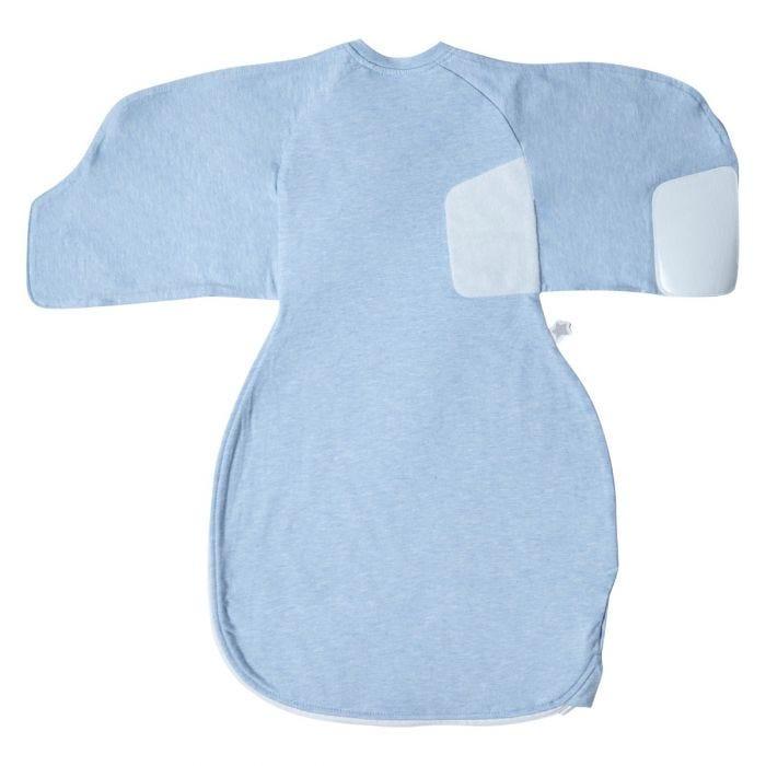 Blue Marl Swaddle Wrap open flat back