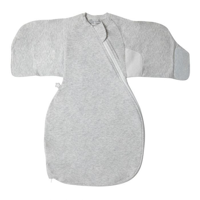Grey marl swaddle wrap front view