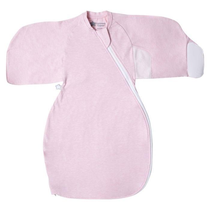 Pink Marl Swaddle Wrap open flat