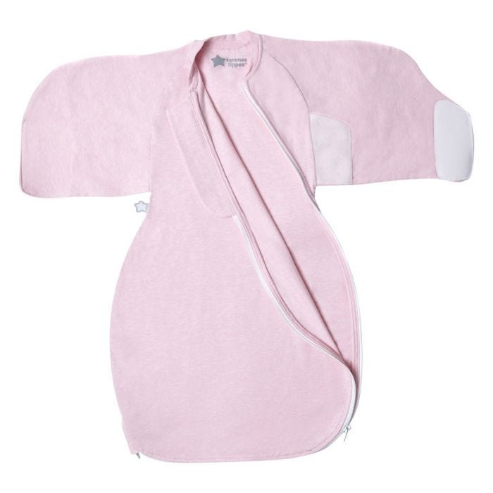 Pink Marl Swaddle Wrap open flat zip open