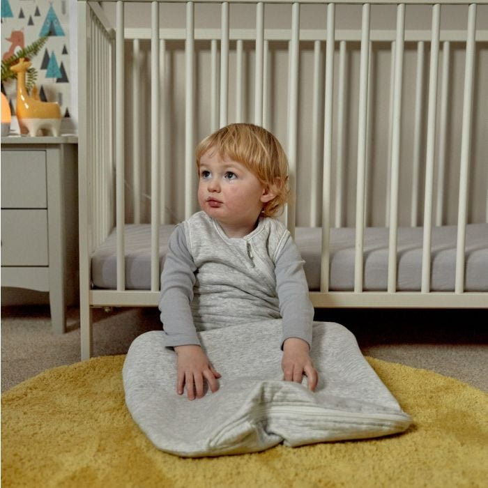Child wearing The Original Grobag Classic Marl Sleepbag