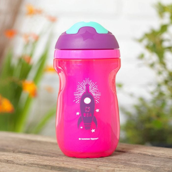 Purple Insulated Sipper Cup