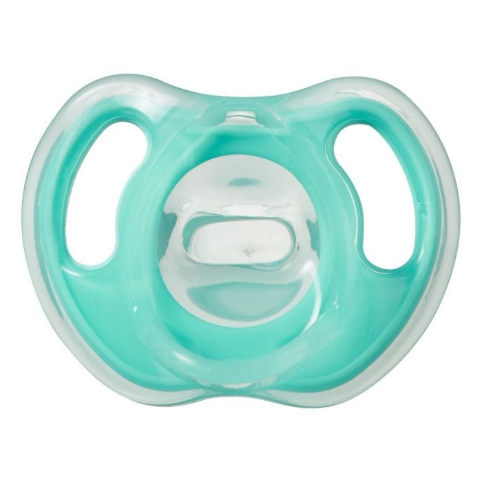 Ultra-light silicone soother green - front view