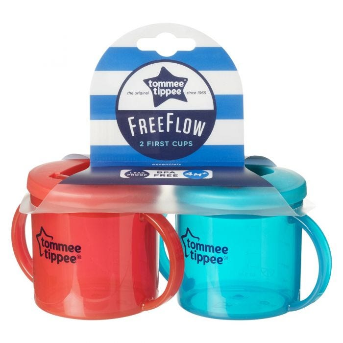 Essential Free Flow First Cup with packaging