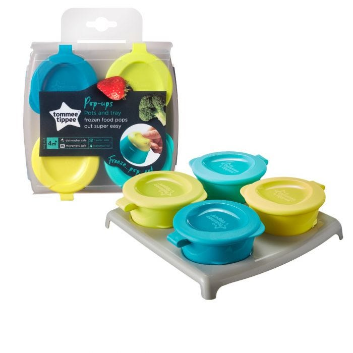 Pop Up Freezer Pots and Tray with packaging