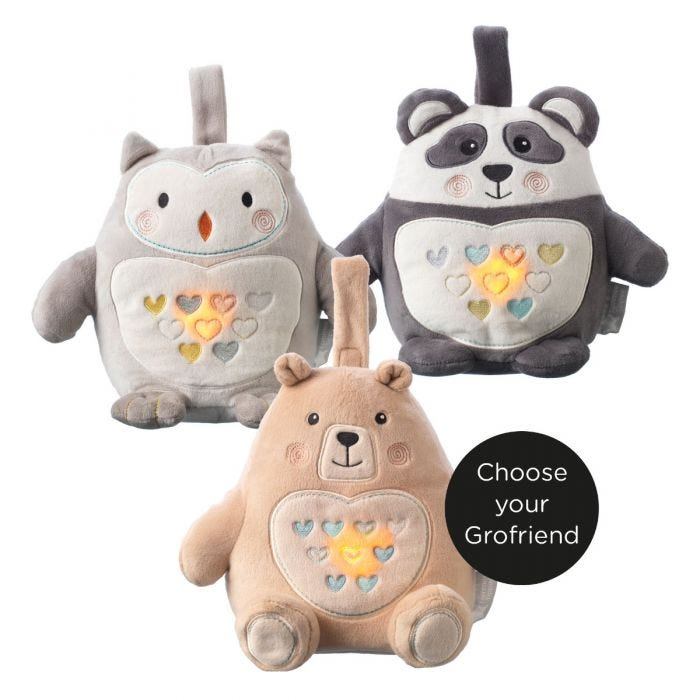 Ollie, Bennie, and Pip USB Rechargeable Light and Sound Sleep Aid Grofriend- choose your grofriend